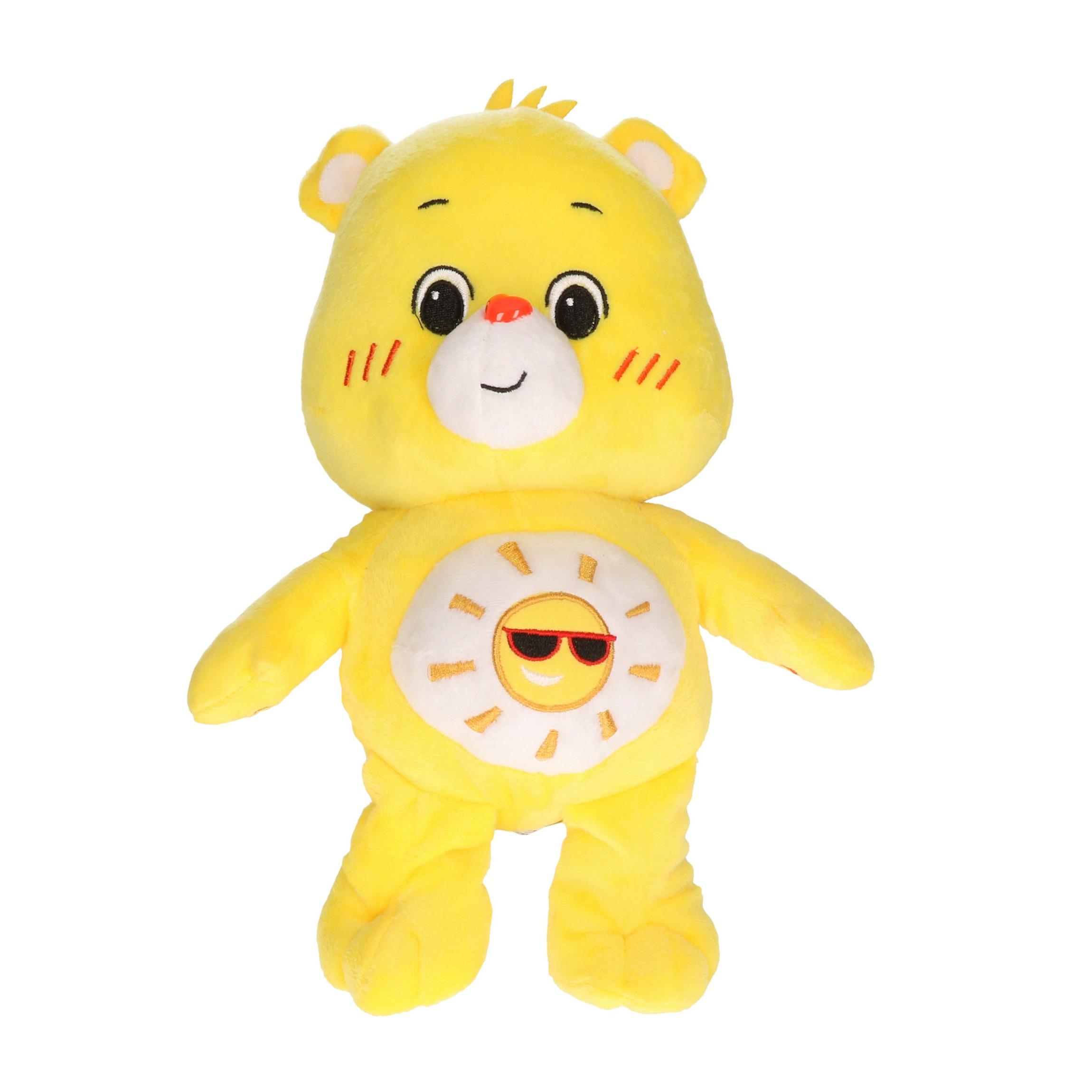 Pluche Troetelbeertje knuffel geel 21 cm