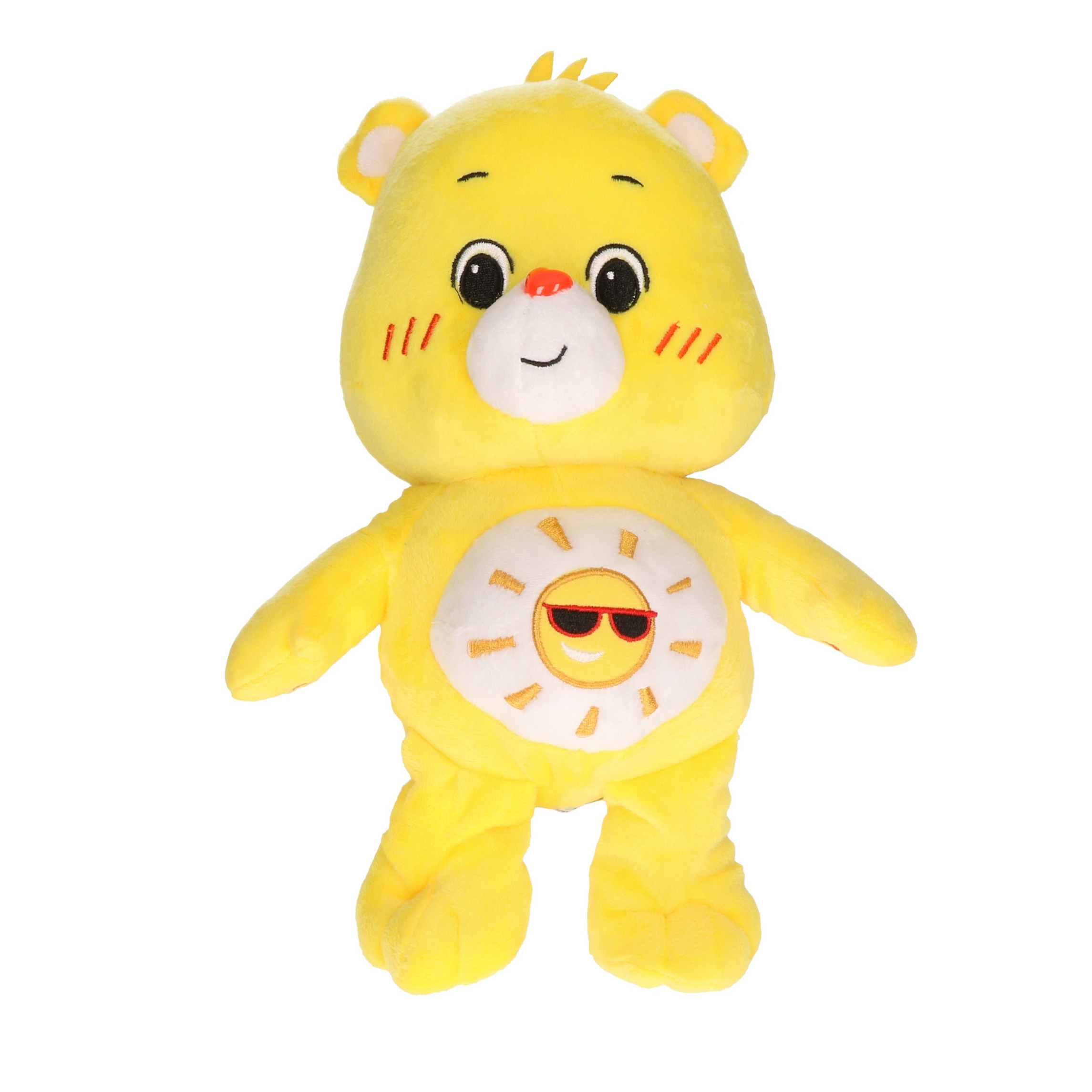 Pluche Troetelbeertje knuffel geel 28 cm