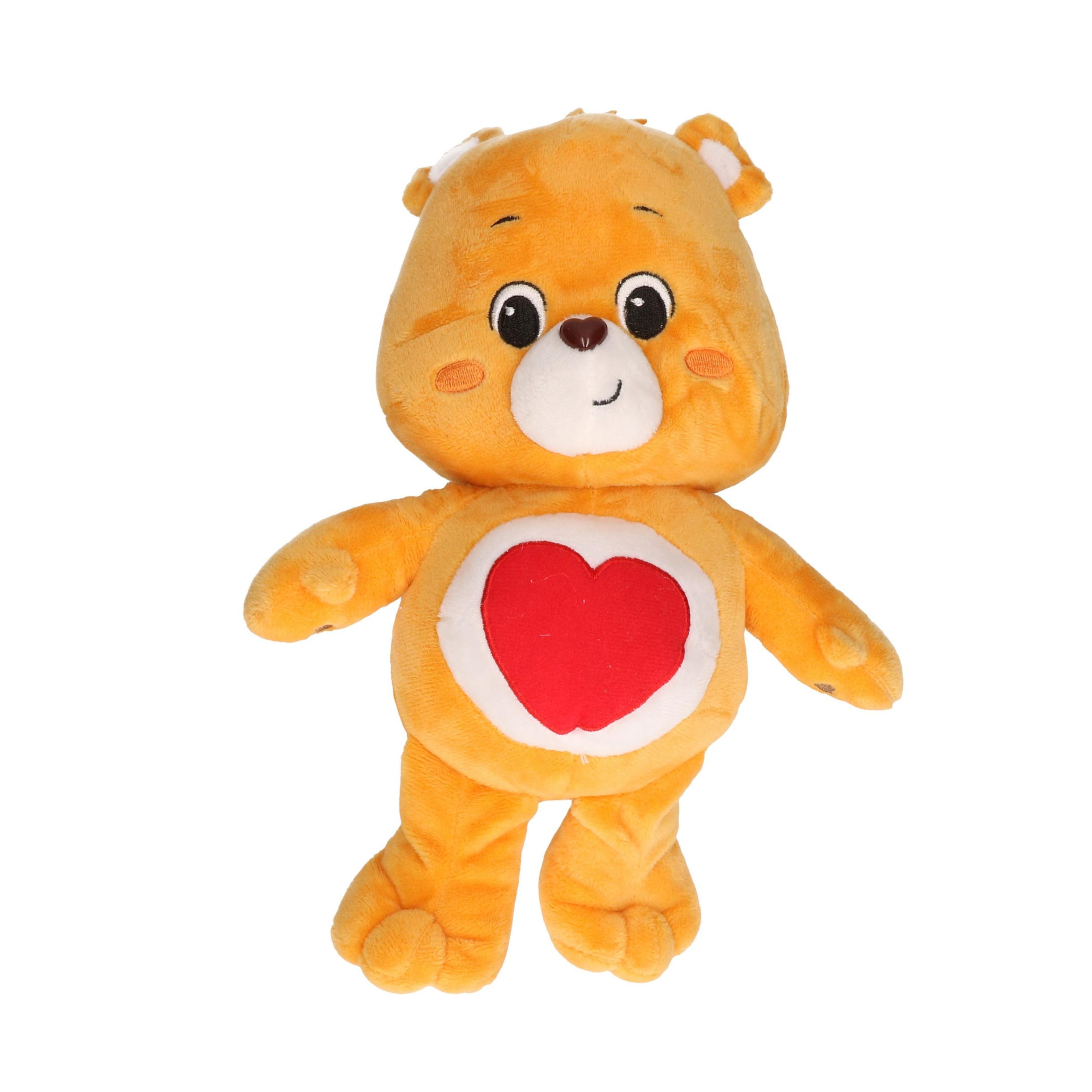 Pluche Troetelbeertje knuffel oranje 21 cm