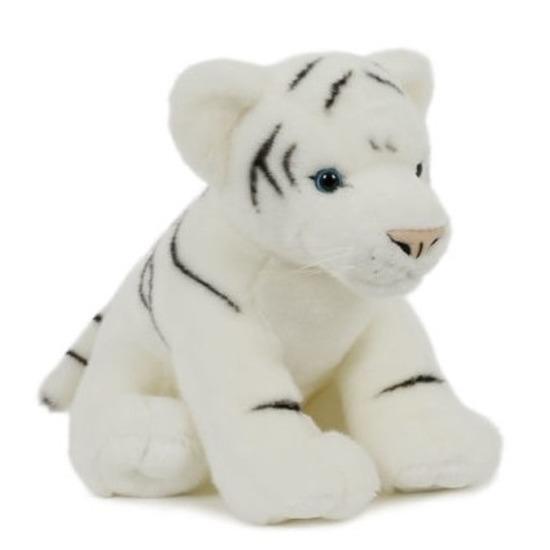 Pluche witte tijger knuffel 30 cm speelgoed