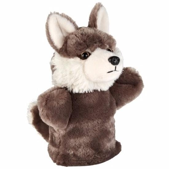 Pluche wolf handpop 26 cm