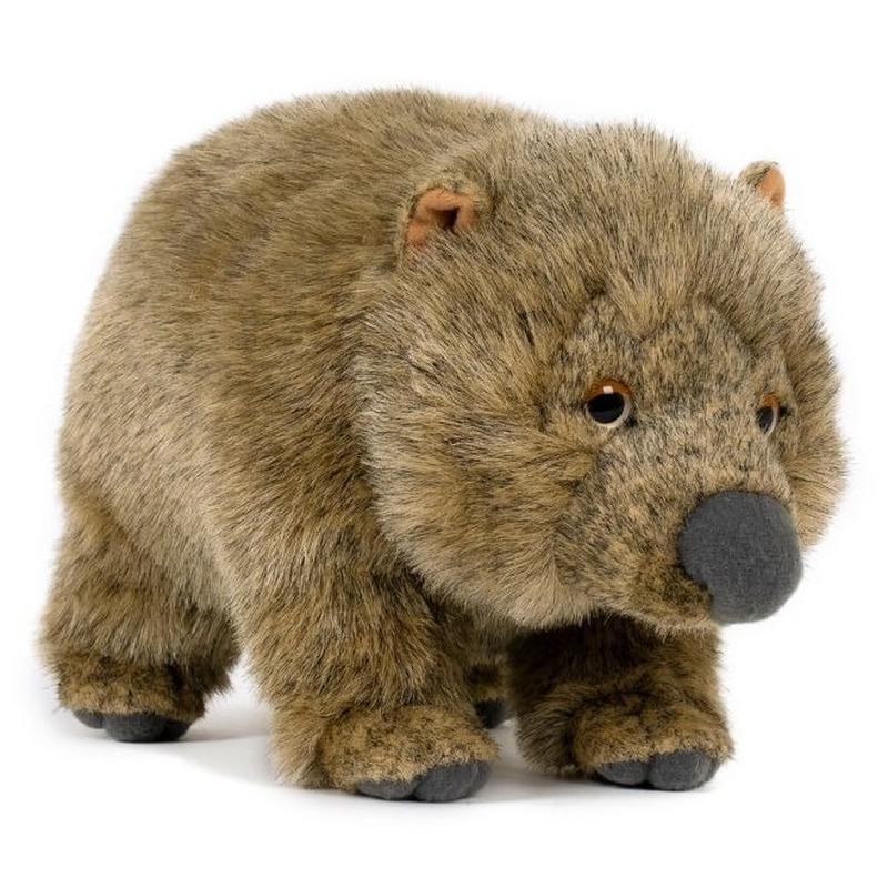 Pluche wombat/buideldier knuffel 25 cm speelgoed