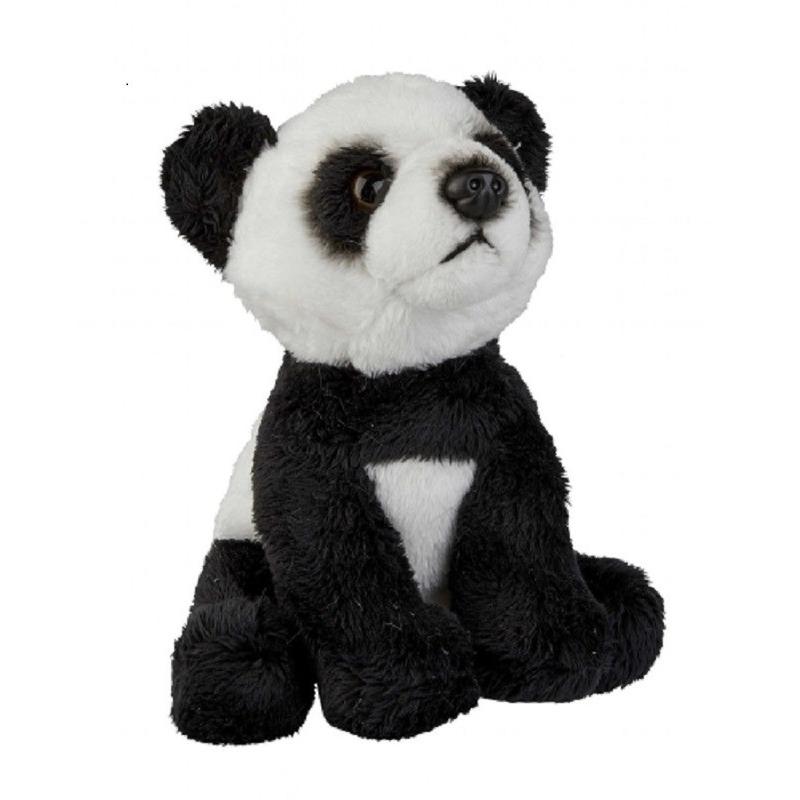 Pluche zwart/witte panda beer/beren knuffel 15 cm speelgoed