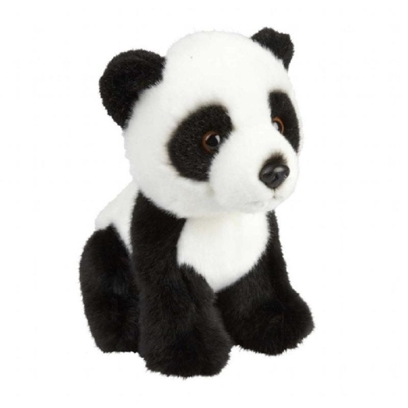 Pluche zwart/witte panda beer/beren knuffel 18 cm speelgoed