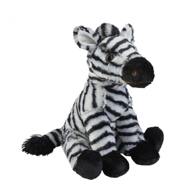 Pluche zwart/witte zebra knuffel 30 cm speelgoed