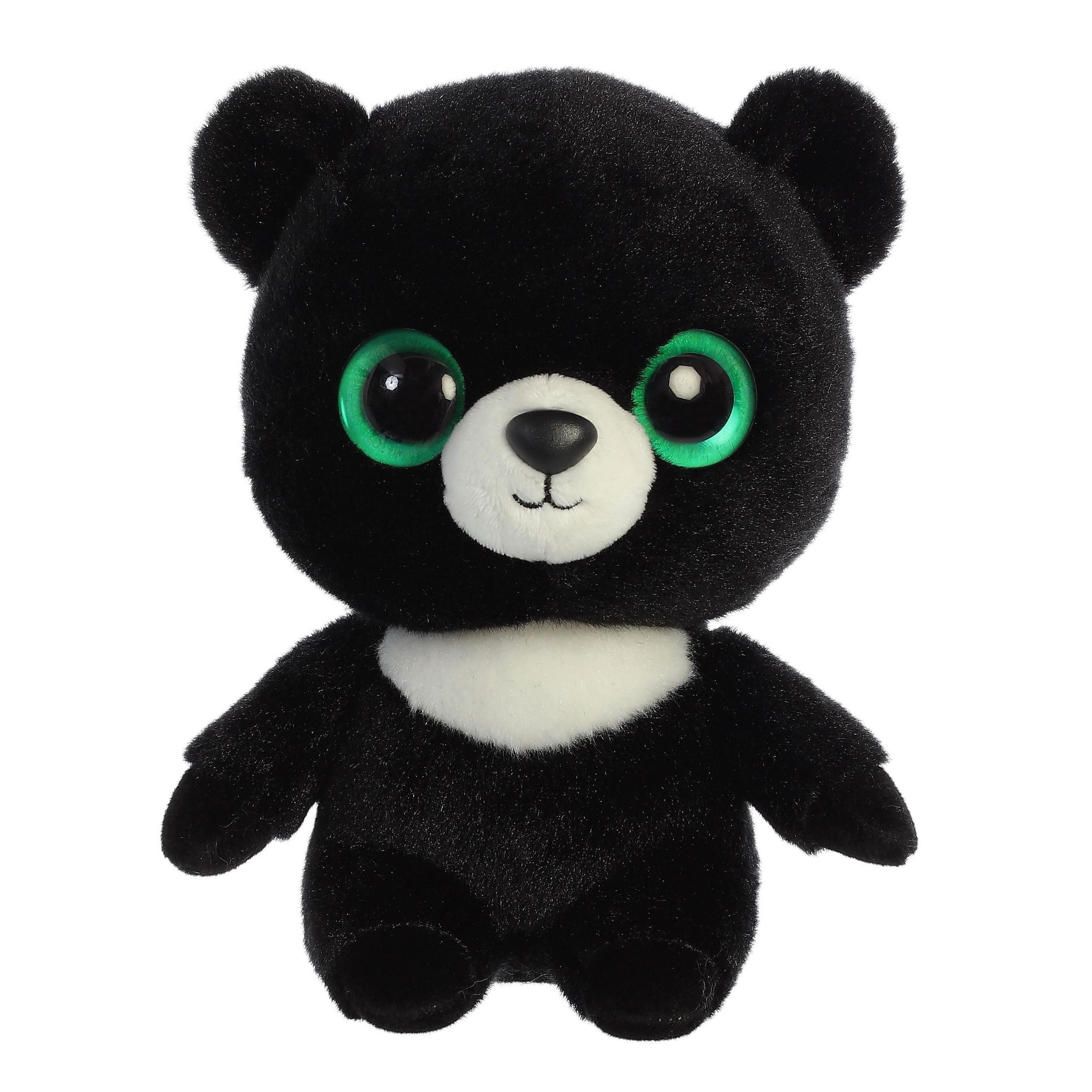 Pluche zwarte beer knuffel 20 cm