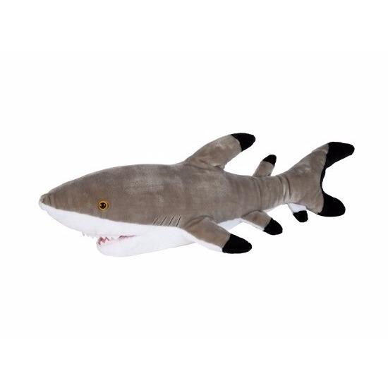 Pluche zwarte punt rif haai 75 cm