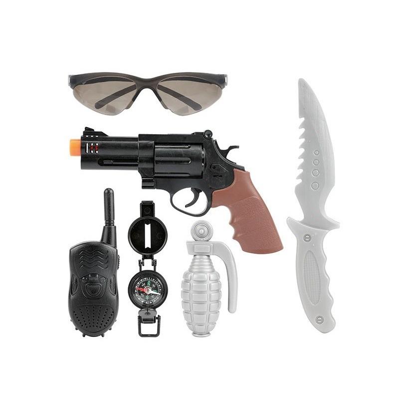 Politie speelgoed pistool wapen set 6-delig