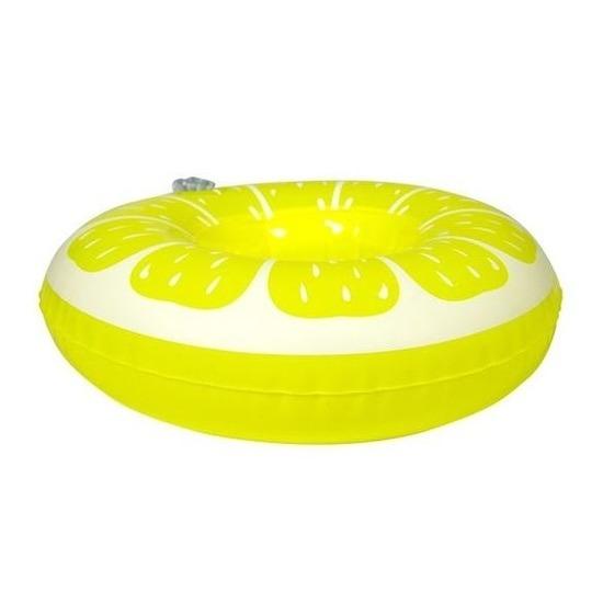 Poppen/knuffel opblaas zwemband citroen 19 cm