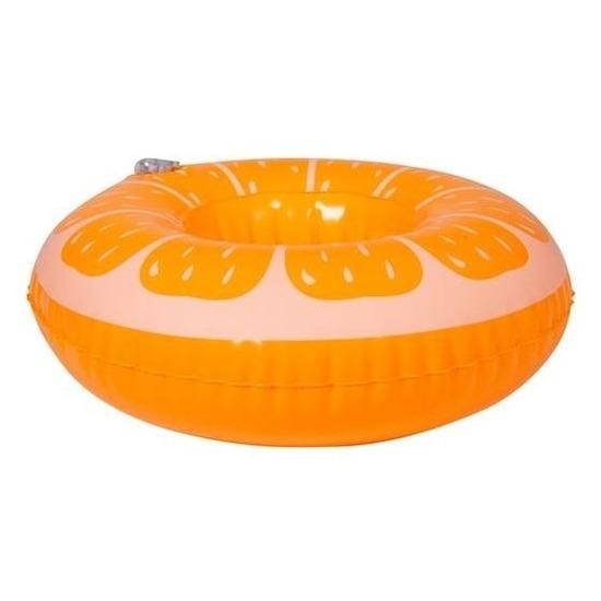 Poppen/knuffel opblaas zwemband sinaasappel 17 cm