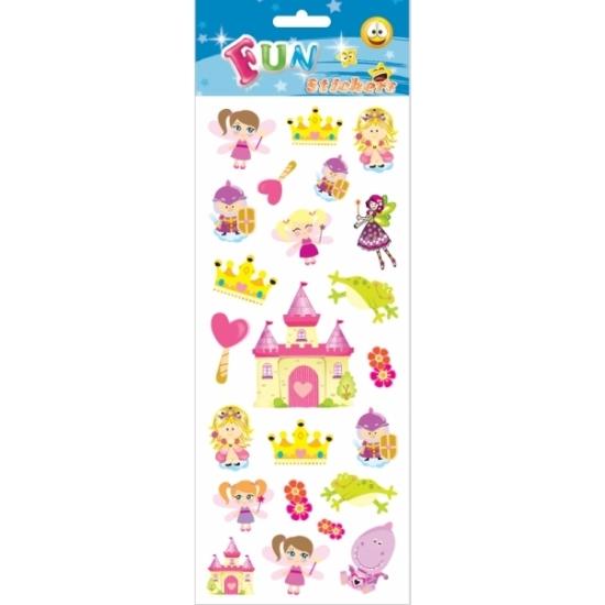 Prinsessen en kastelen stickervellen