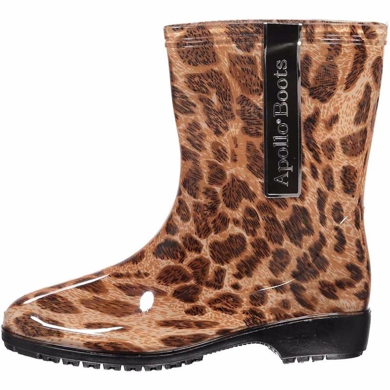 Regen kaplaarzen met luipaard motief