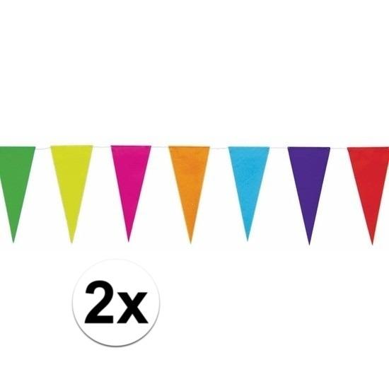 Regenboog vlaggenlijnen 10 meter