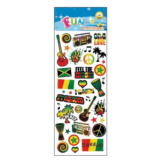 Reggae stickervellen