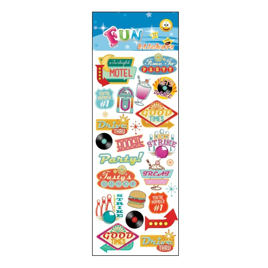 Retro Fifties stickervellen