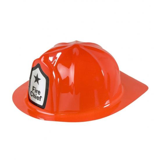 Rode brandweer verkleed helm