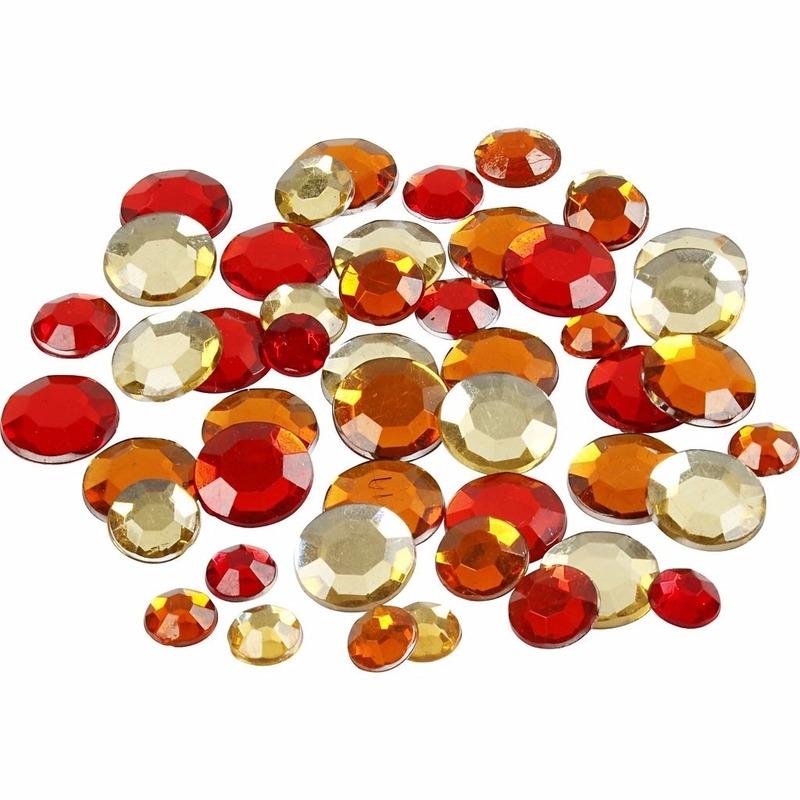 Rode diamanten stenen rond