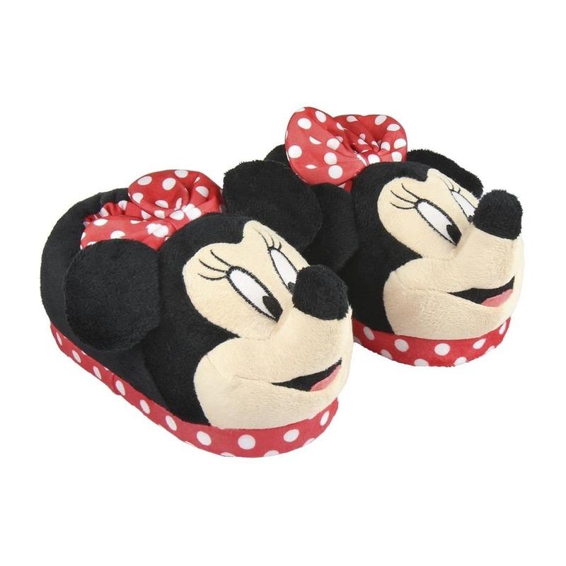 Rode Disney Minnie Mouse 3D sloffen/pantoffels voor meisjes