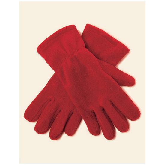 Rode fleece handschoenen