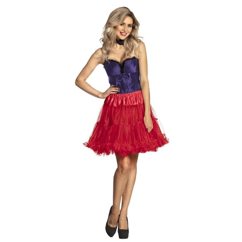 Rode petticoat rok voor dames 45 cm