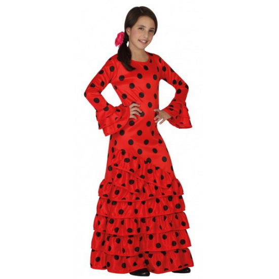 Rode Spaanse kinder verkleedjurk