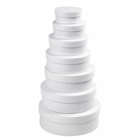 Ronde witte hobby opslag doos/dozen 10.5 cm