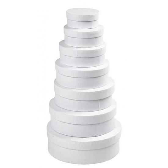 Ronde witte hobby opslag doos/dozen 8.5 cm