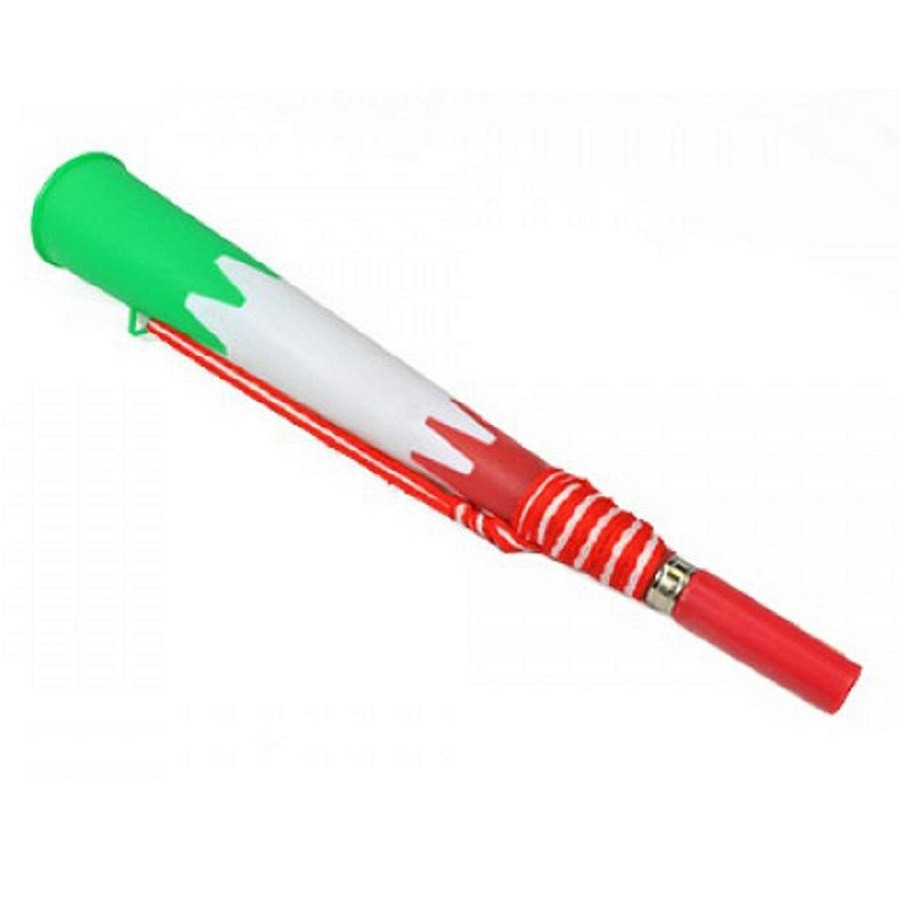 Rood/oranje met wit en groene supporters feesttoeter 23 cm