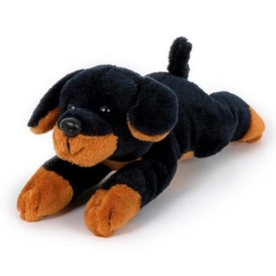Rottweilers speelgoed artikelen knuffelbeest bruin 13 cm