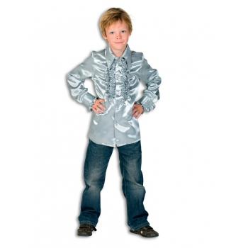 Rouche blouse jongens zilver
