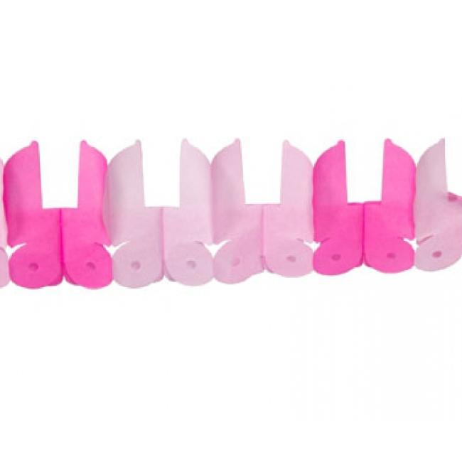Roze baby geboorte meisjes thema slingers met wiegjes
