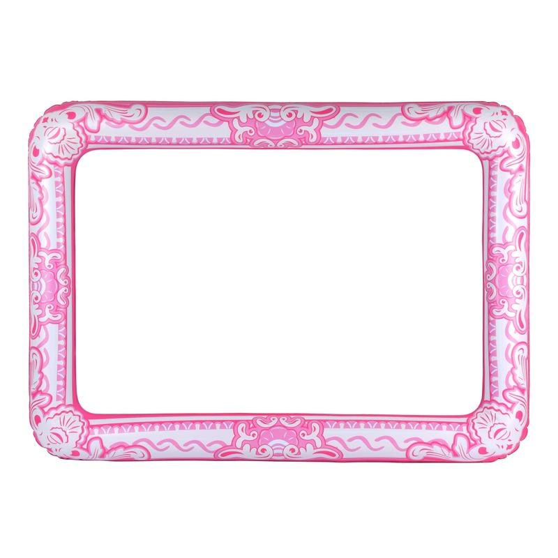 Roze foto prop opblaasbare fotolijst 60 x 80 cm