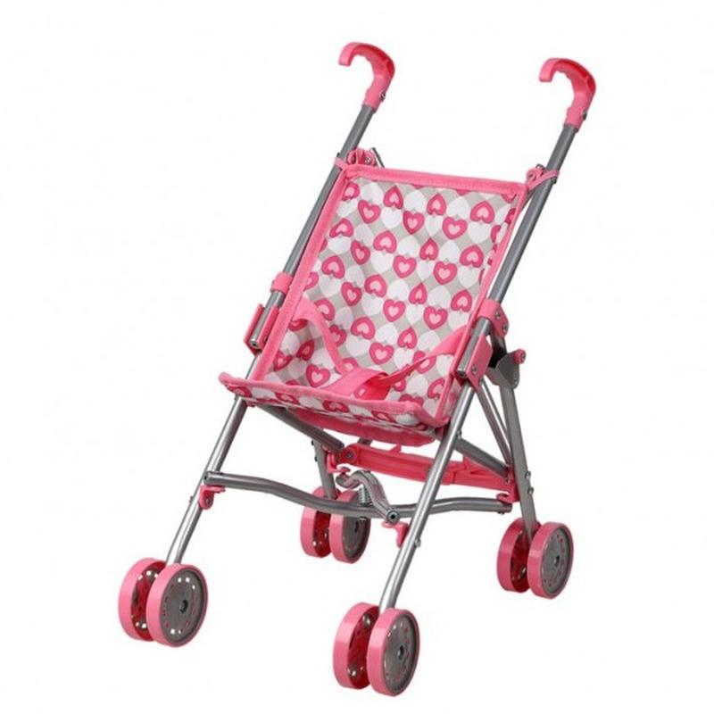 Roze/grijze poppenwagen speelgoed voor meisjes