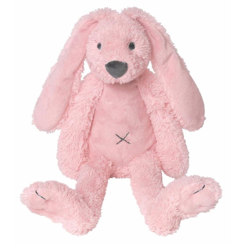 Roze knuffel konijn Richie 28 cm
