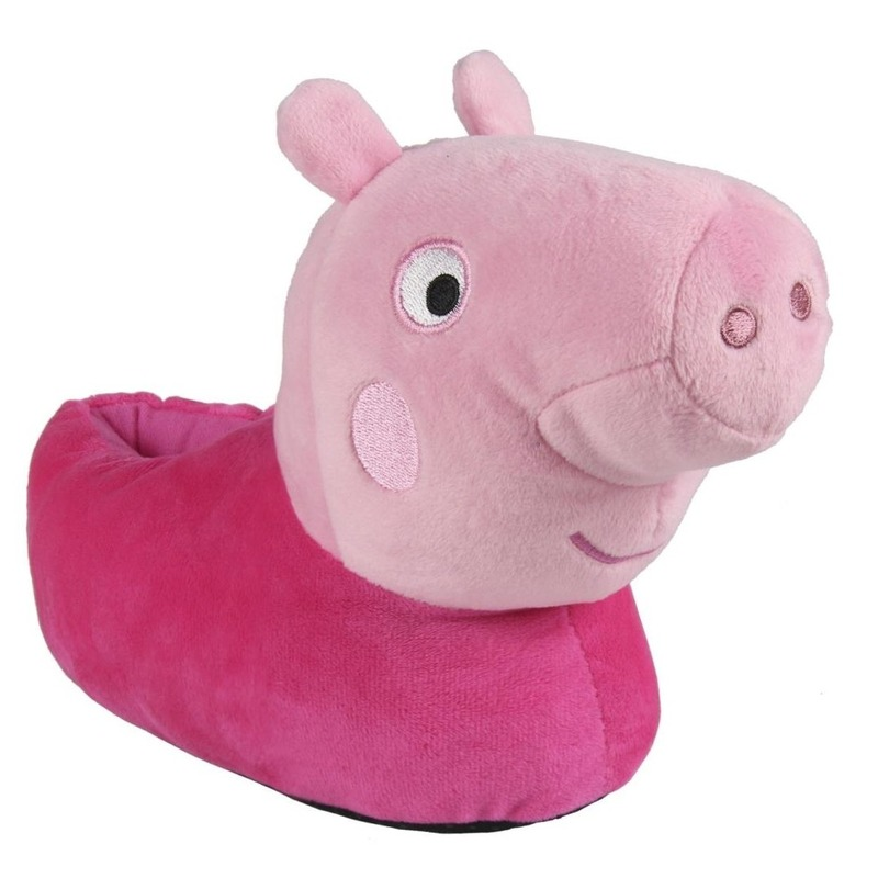 Roze Peppa Big 3D sloffen/pantoffels voor meisjes