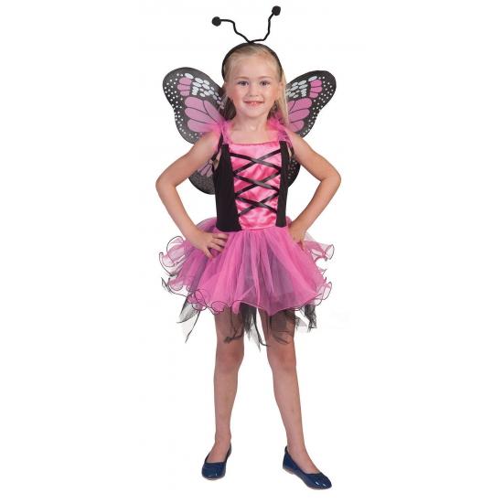 Roze verkleed vlinderjurkje voor meisjes