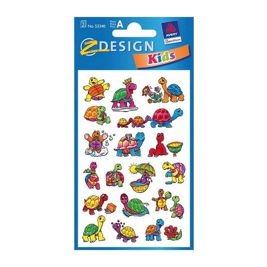 Schildpad kinder stickers 2 vellen