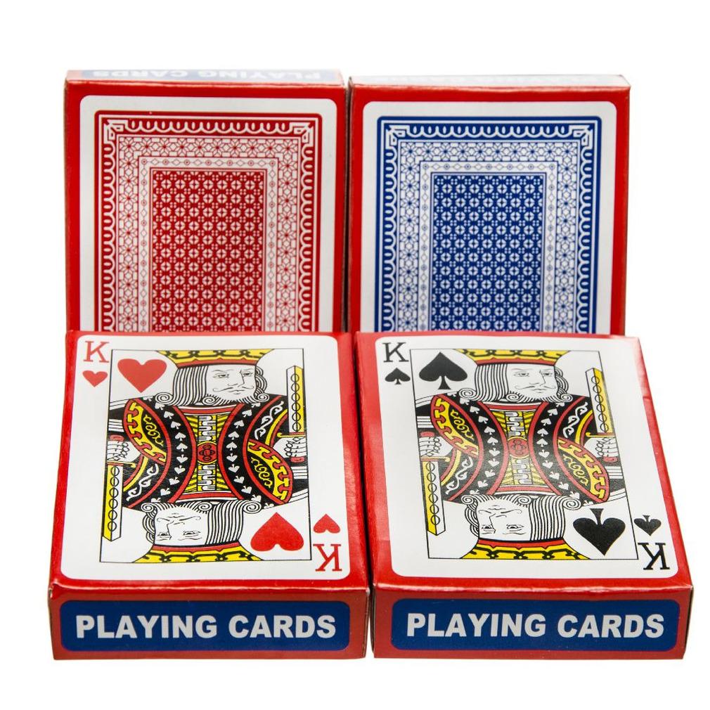 Set van 2x poker/kaartspel speelkaarten geplastificeerd