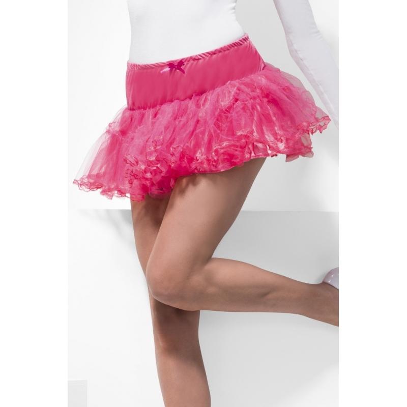 Sixties onderrok in roze tule