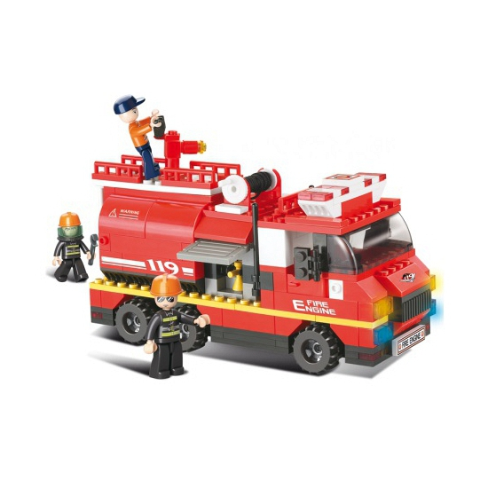 Sluban Brandweerauto om te blussen 28,5 x 28,5 cm