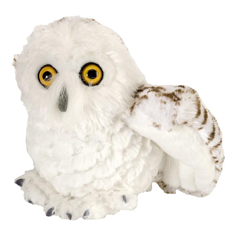 Sneeuwuilen speelgoed artikelen sneeuwuil knuffelbeest wit 15 cm