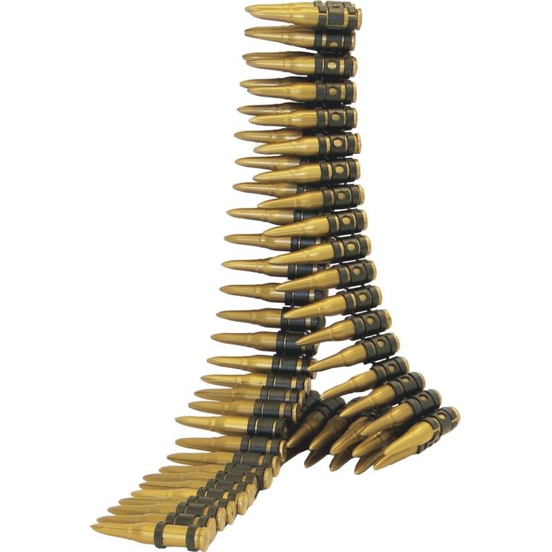 Soldaten kogelriem met 96 nep kogels