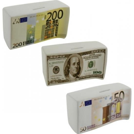 Spaarpot 100 dollar biljet 16.5 cm