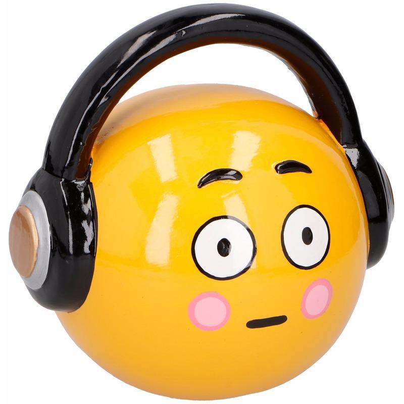 Spaarpot emoticons hoofdtelefoon 17 cm