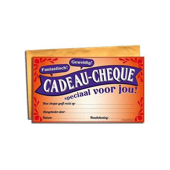 Speciaal voor jou gift cheque