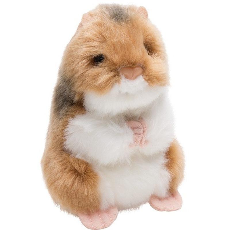 Speelgoed artikelen hamster knaagdieren knuffelbeest 13 cm