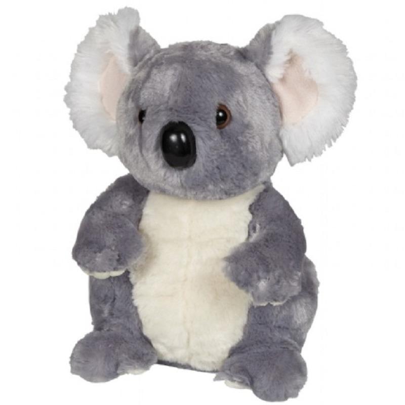 Speelgoed artikelen koala knuffelbeest grijs 30 cm