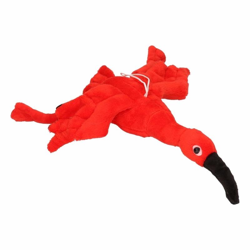 Speelgoed knuffel ibis rood 34 cm
