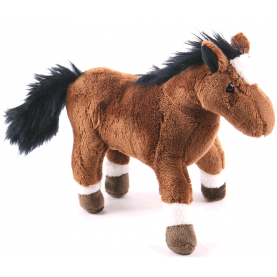 Speelgoed knuffel paard 19 cm