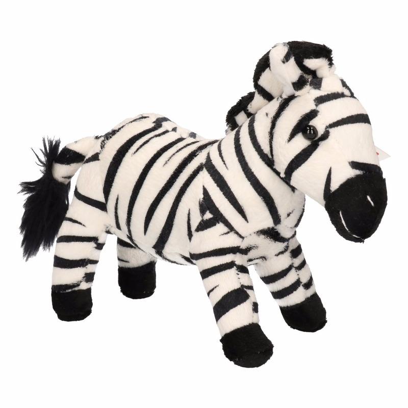 Speelgoed knuffeldier zebra 18 cm